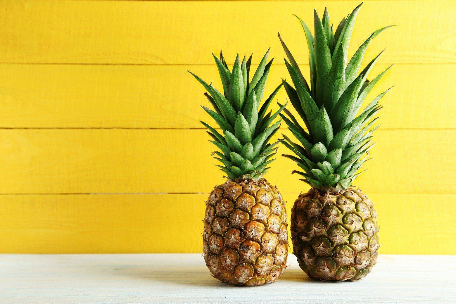 Fruit of pineapple is result of fusion of 100 to 200 individual flowers.