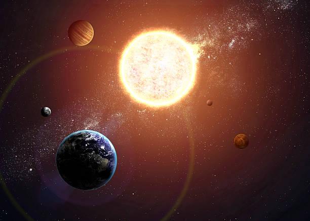 It takes Jupiter 12 years to revolve around the Sun.