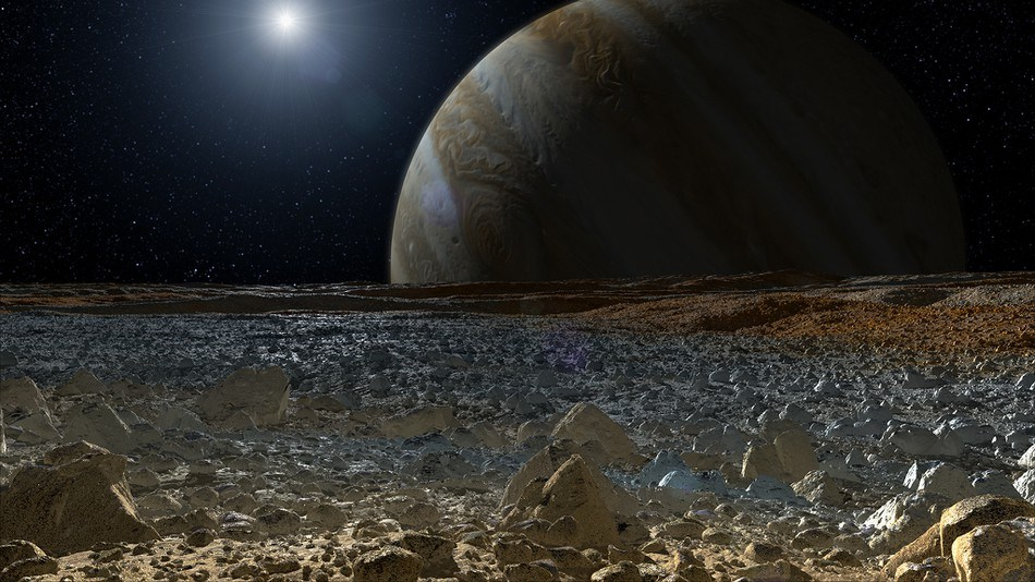 Jupiter does not have a solid surface, which means that a person would just sink deeper and deeper into the planet.