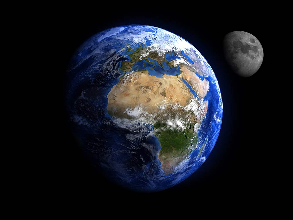Just like the Earth orbits the Sun, the Moon orbits the Earth.