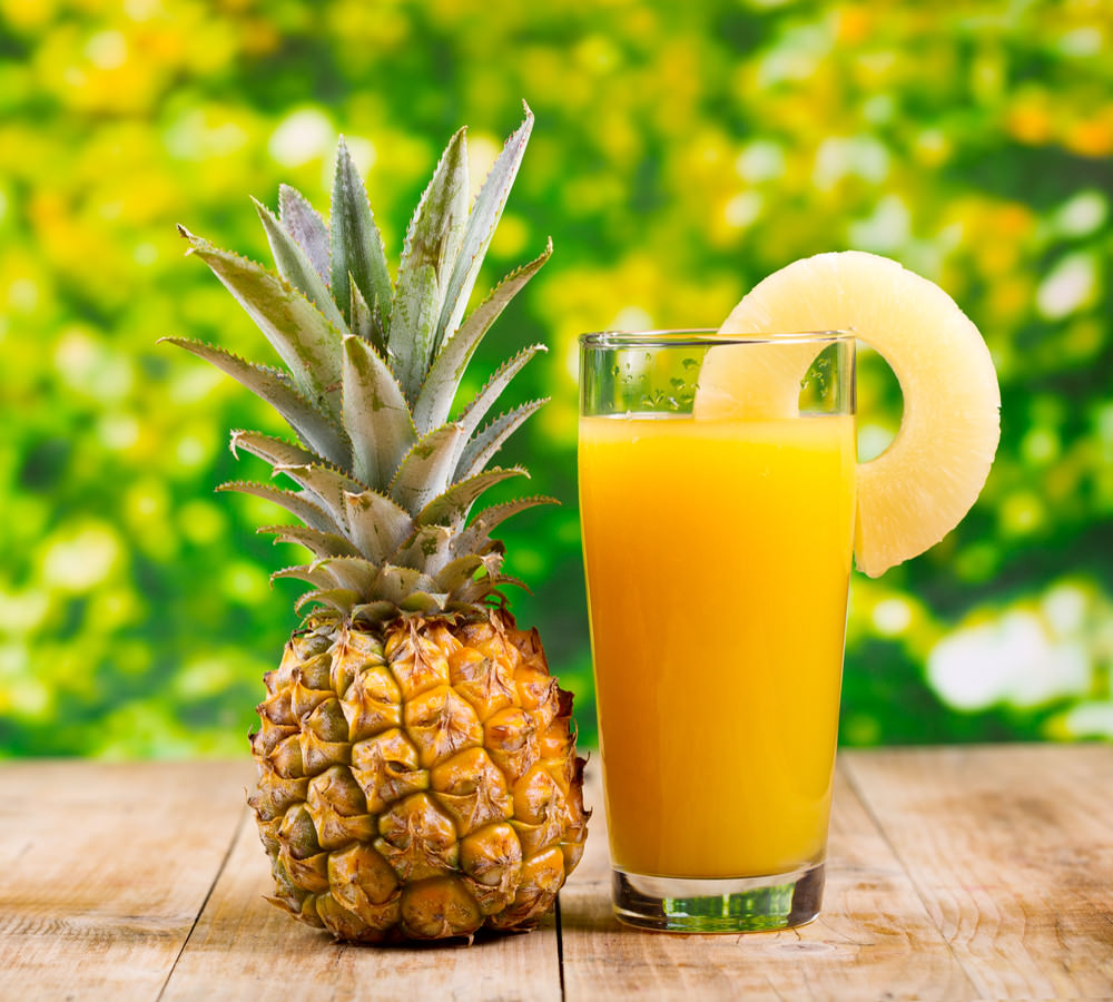Pineapple is rich source of vitamin C, fibers, manganese and vitamins of the B group.