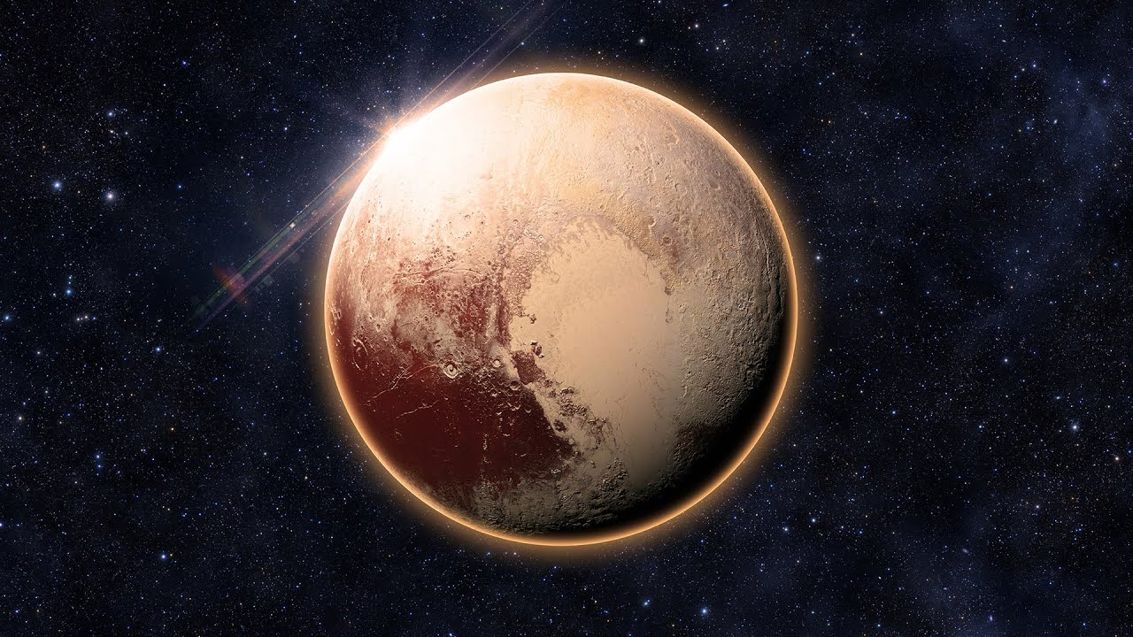 Pluto is one of the most contrastive bodies in the Solar System, with as much contrast as Saturn's moon Iapetus.