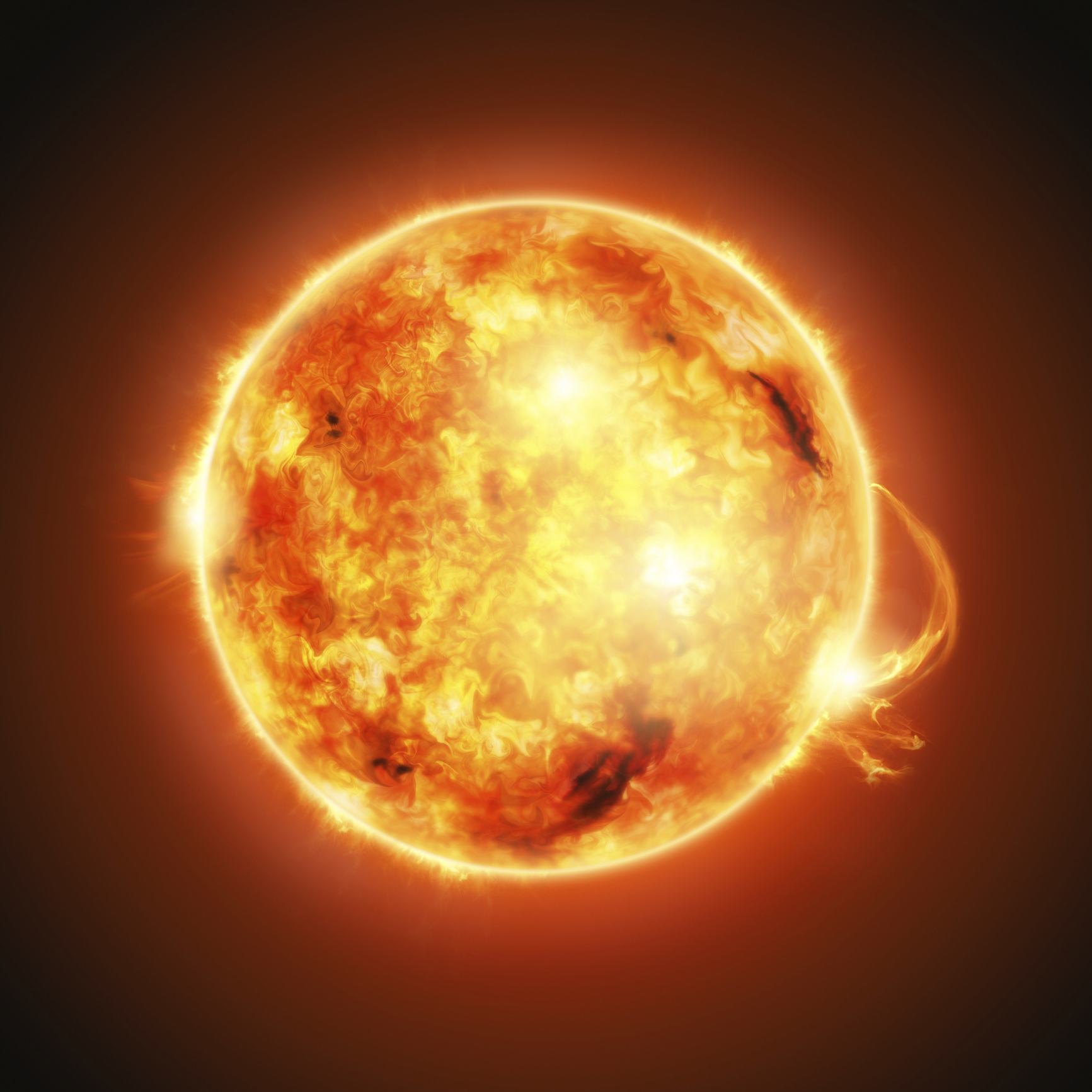 The Sun rotates in the opposite direction to Earth with the Sun rotating from west to east instead of east to west like Earth.