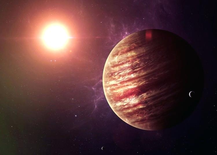 The average distance of Jupiter from Sun is 778,412,020 km or 483,682,810 miles.
