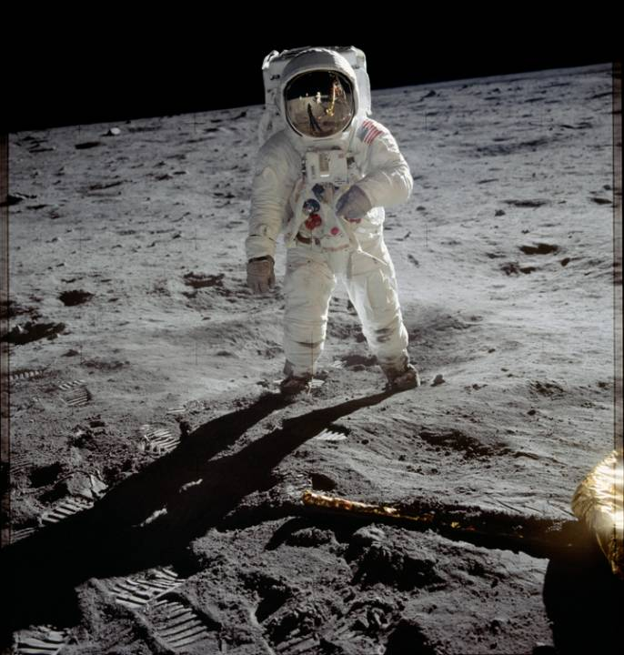 The first man to step on the Moon was Neil Armstrong on July 21, 1969.