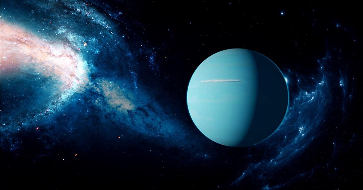 The tilt of Uranus may have been caused by a collision.