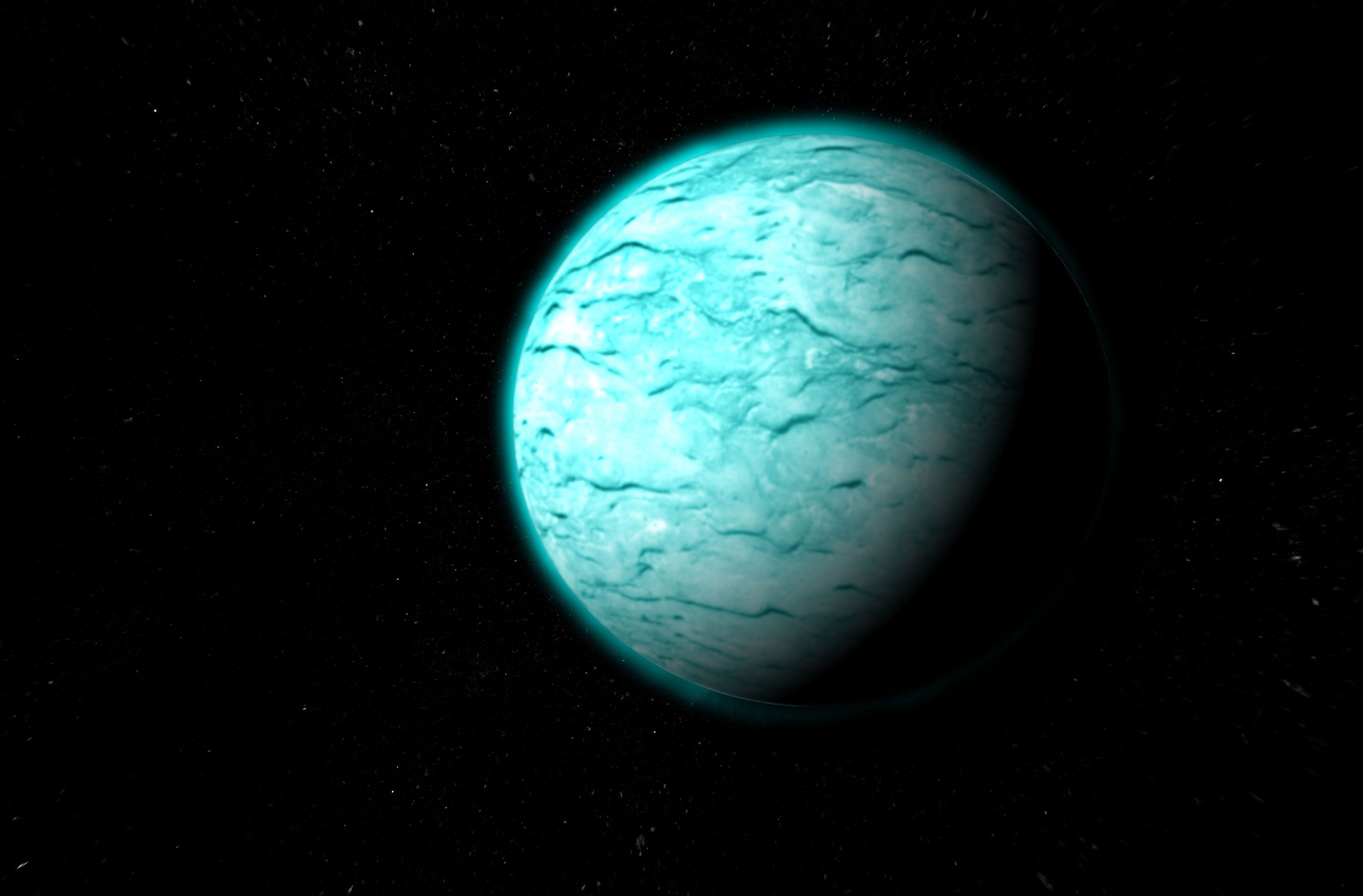 Uranus gets about 1400th of the sunlight that Earth does.