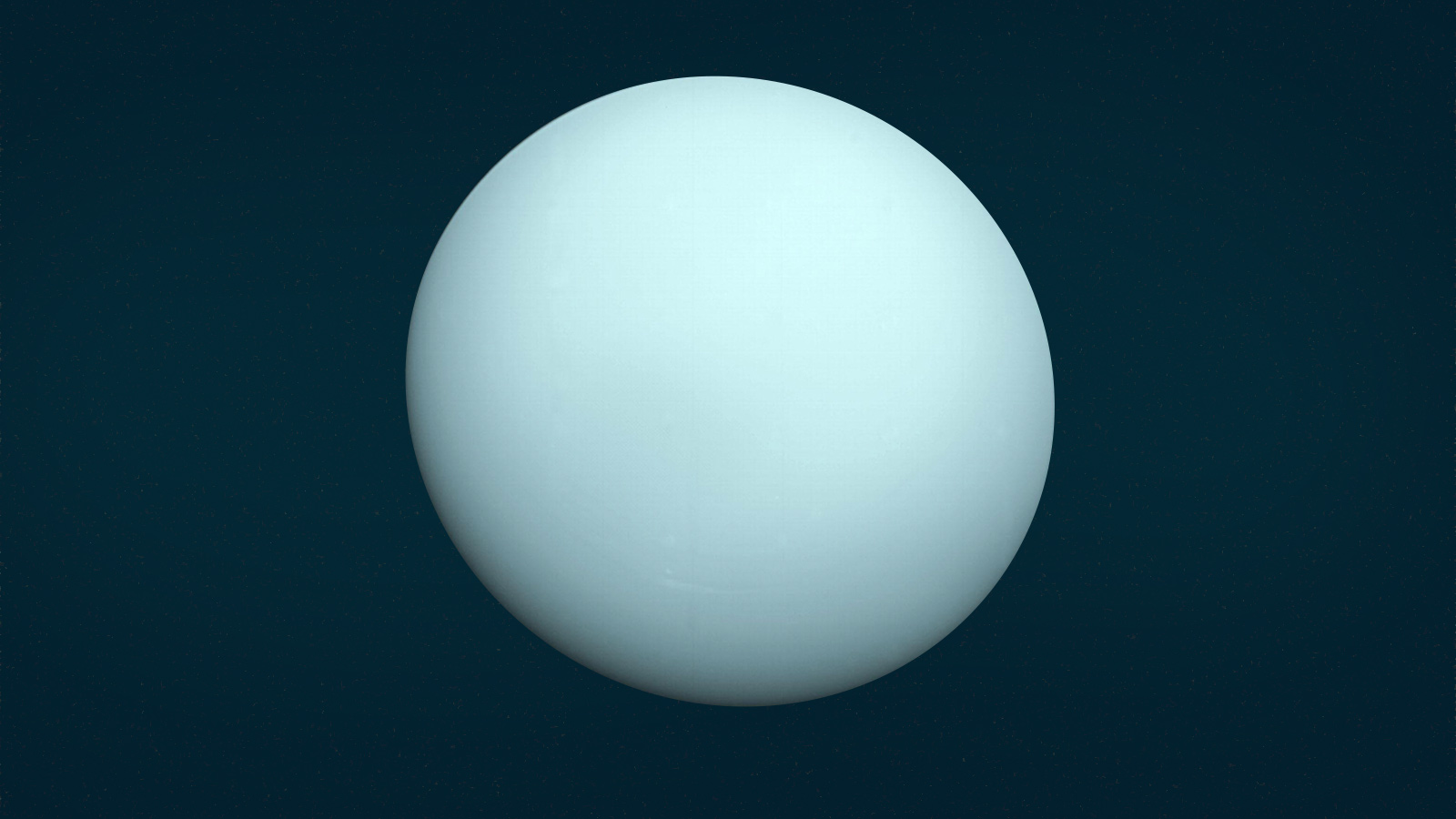 Uranus rotates on its side, it spins horizontally.
