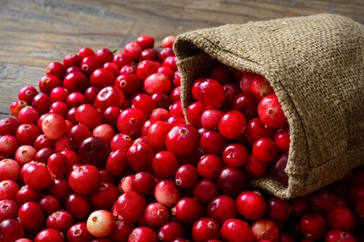 During World War II, American troops required about one million pounds of dehydrated cranberries a year.