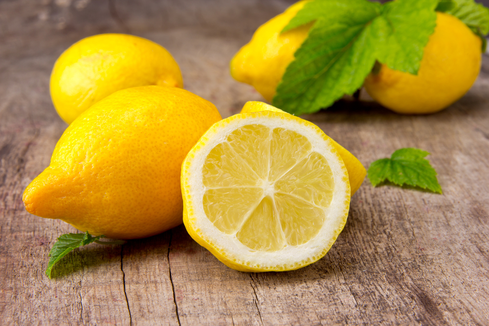 Lemons are a hybrid between a sour orange and a citron.