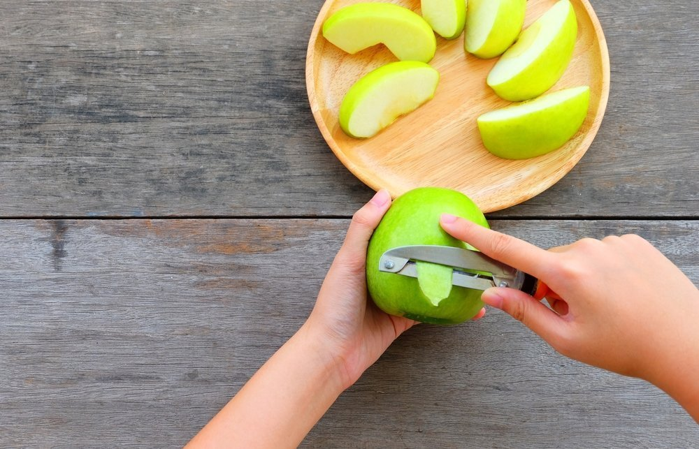 Most of the anti-oxidants in apples, including Quercetin, are found in the skin.