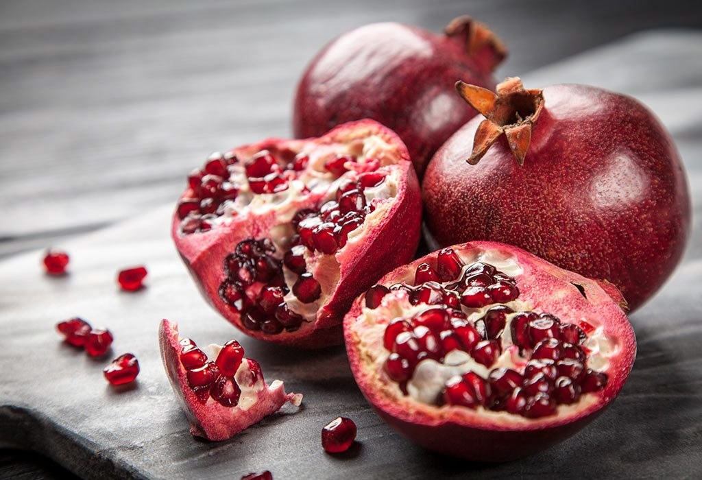 Pomegranates are native to the Middle East.