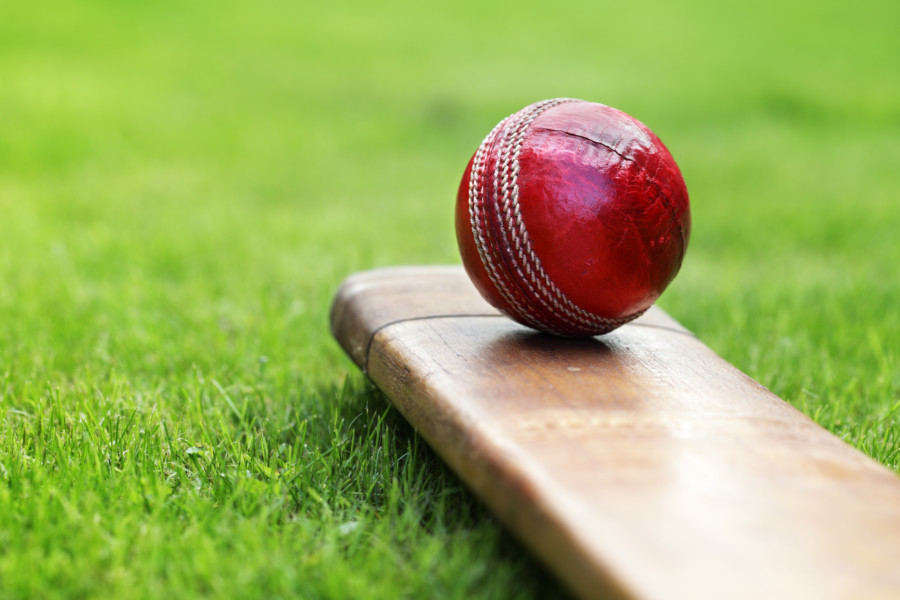 A cricket ball weighs around 5 ½ ounces.