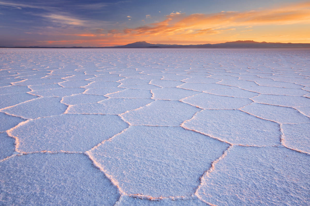 Bolivia is home to the world's largest salt flat.