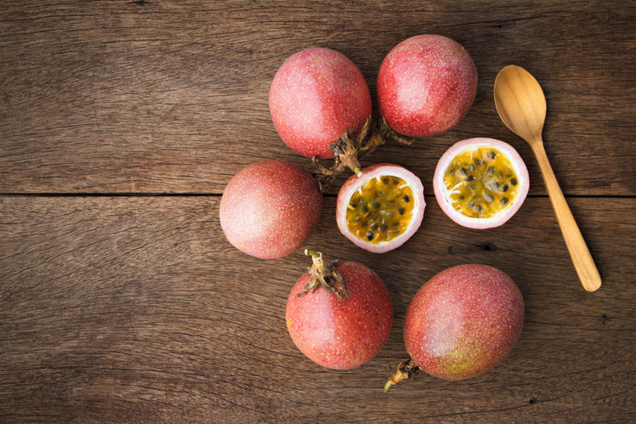The passion fruit is native to southern Brazil.