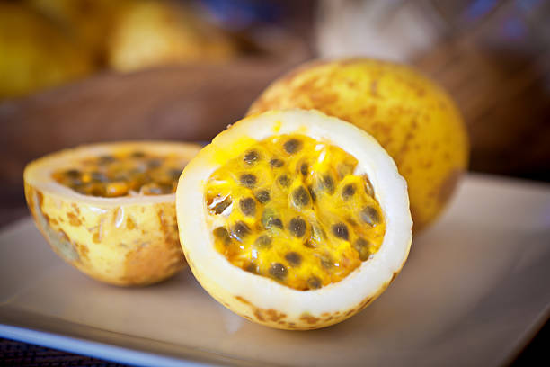 The pulp of the passionfruit is rich in vitamin A and vitamin C.