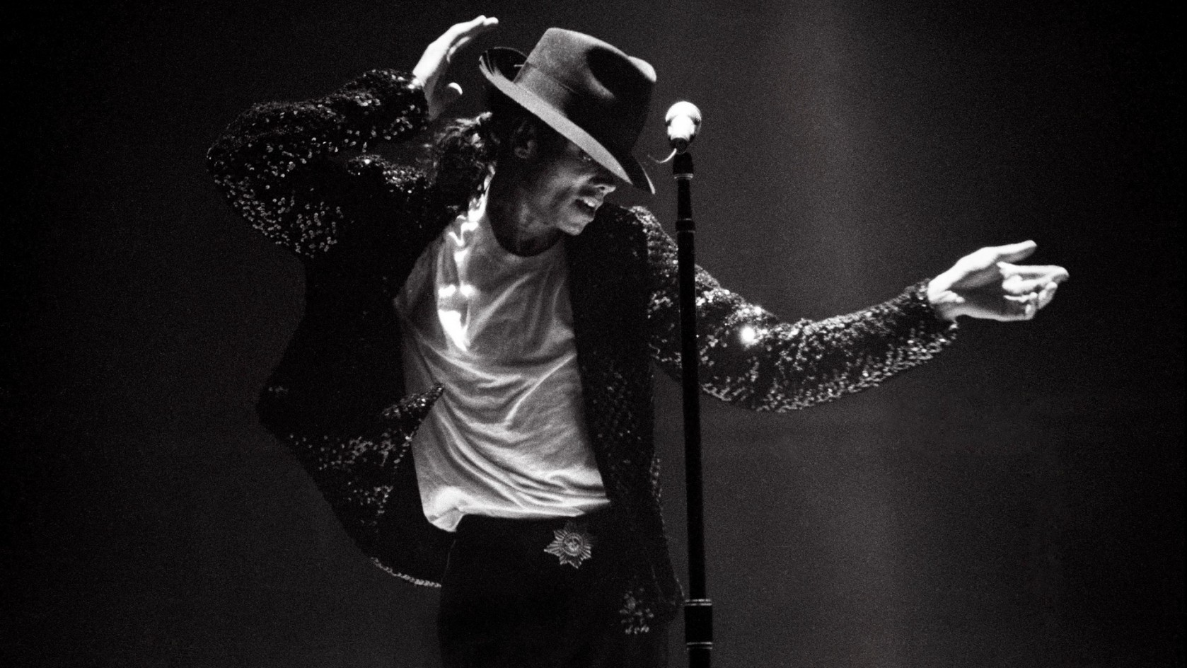 Michael Jackson was famous for his moonwalk.