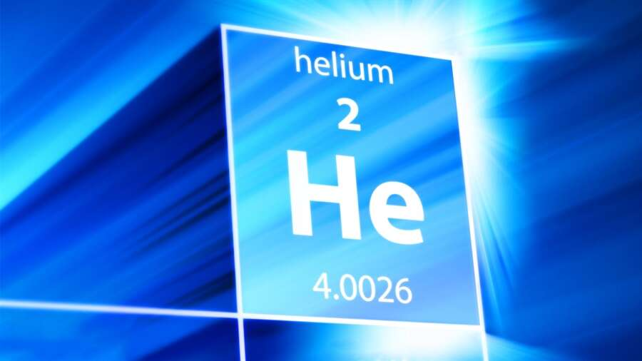 The symbol of the Helium is He.